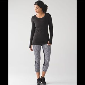 Lululemon Pace Rival Crop Scatter Star Arctic 8